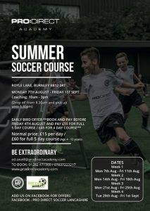 Soccer Burnley - Summer Camp 2017